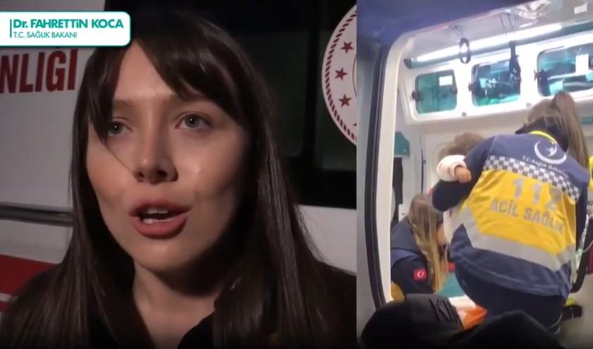 Büşra, Suriyeli çocuklara yardım etti