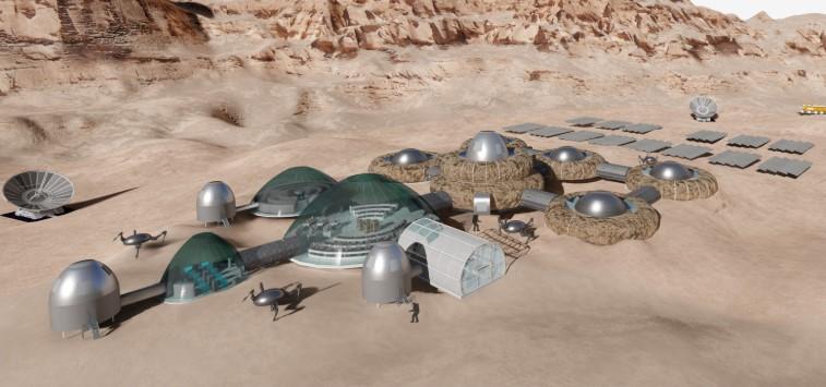 Mars'ta Yaşam Alanı Kurdu !