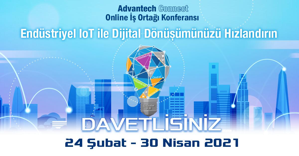 Advantech'in Yapay Zeka Temalı Online Konferansı Advantech Connect Başladı